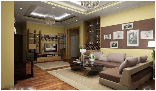 Ý tưởng thiết kế tủ rượu cho phòng khách chung cư diện tích hẹp