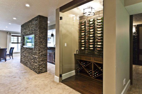 Mẫu tủ rượu kính cho không gian nội thất hiện đại