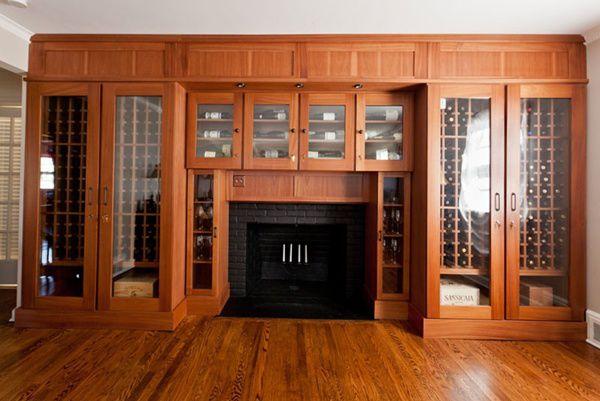 Thiết kế tủ rượu phòng khách có diện tích hẹp