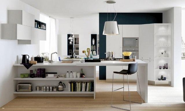 Quầy bar ngăn bếp và phòng khách đa năng
